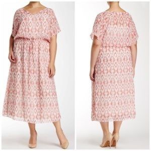 Two by Vince Camuto Printed Midi Dress